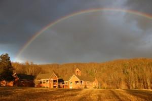 Rainbow in January
